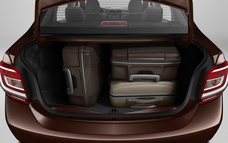 Багажник Логана изнутри