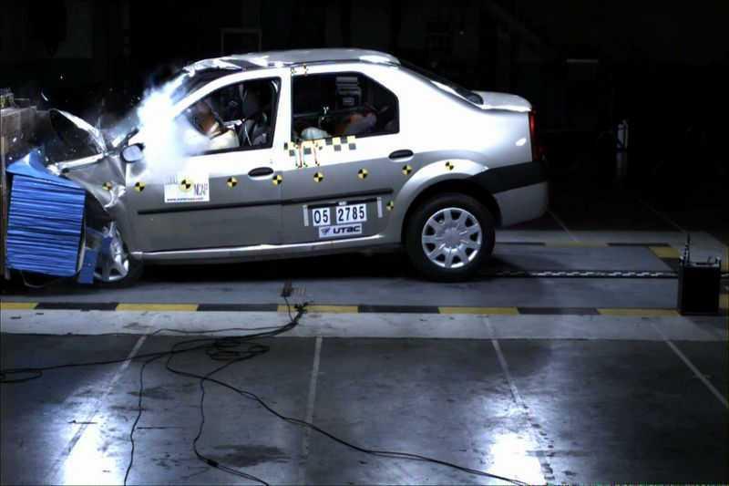 Краш-тест Renault Logan